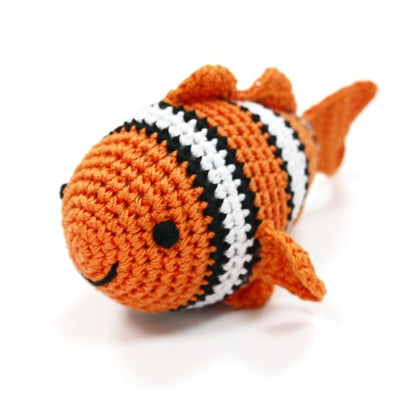 Clown Fish Knit Squeaker Toy