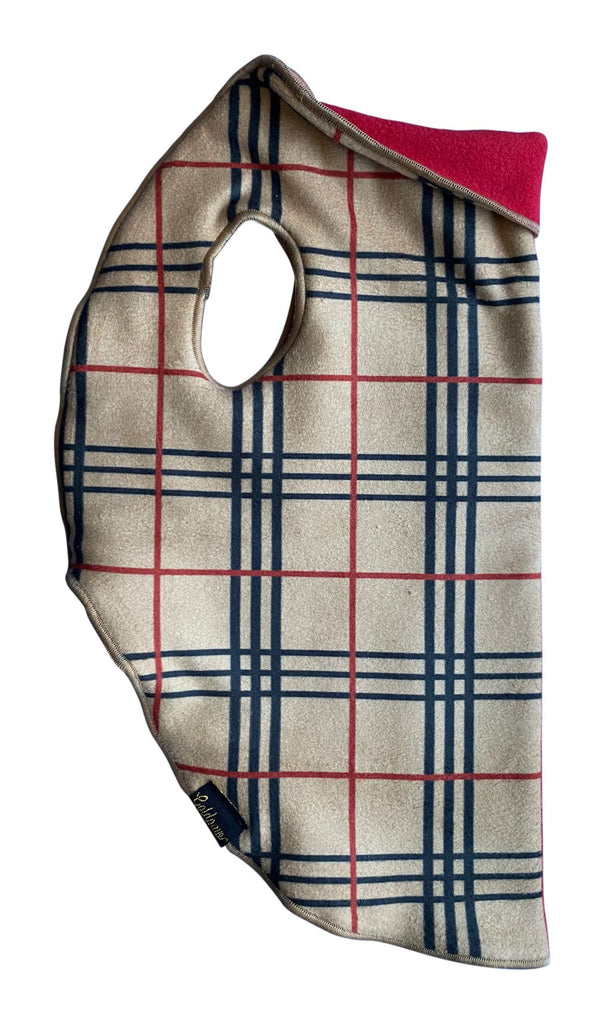 Duluth Double Fleece - Tan Plaid w/ Red Reverse EXCLUSIVE