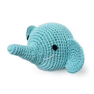 Elephant Knit Squeaker Toy