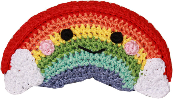 Happy Rainbow Knit Toy