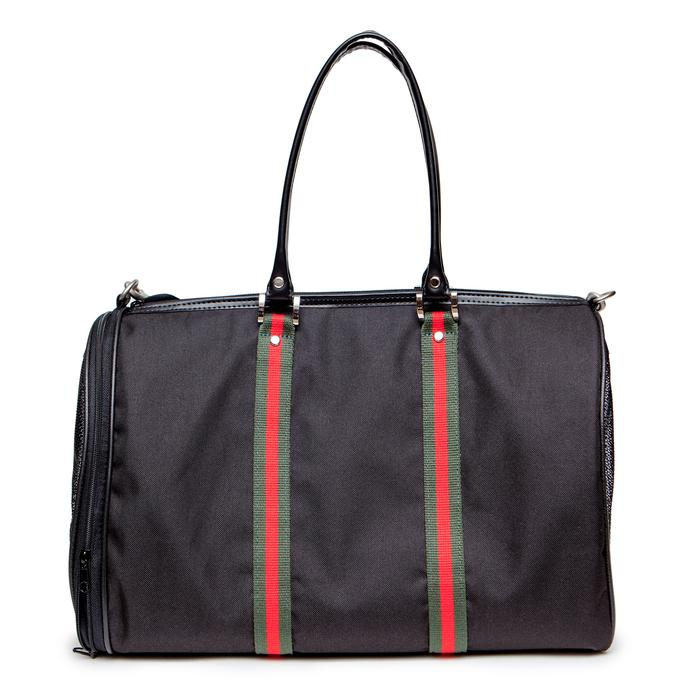 Black Sable with Stripe Luxe JL Duffel Bag