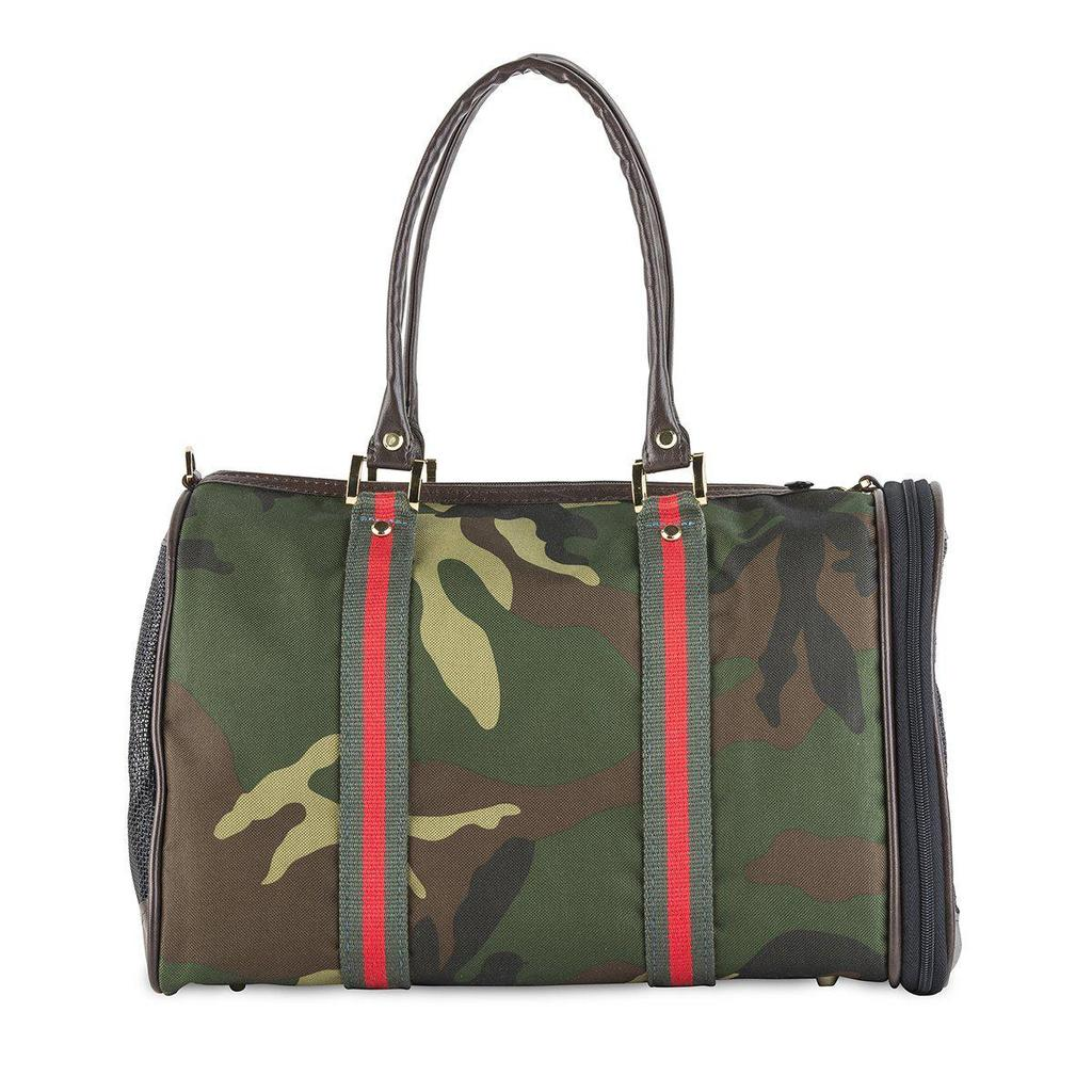 Camo with Stripe Luxe JL Duffel Bag