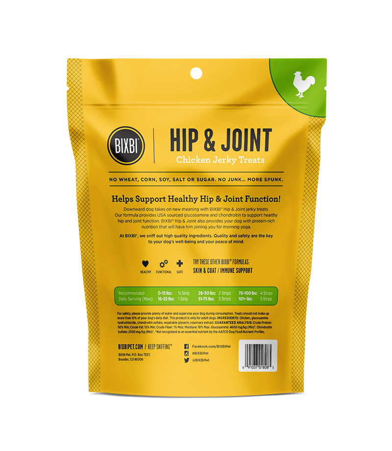 Bixbi Chicken Jerky Treats - Hips & Joint