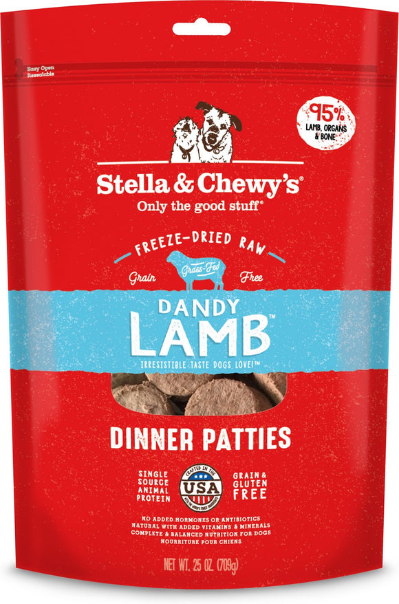 Stella & Chewy's Freeze Dried Dandy Lamb Patties