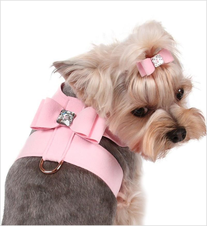 Big Bow Tinkie Harness - Puppy Pink