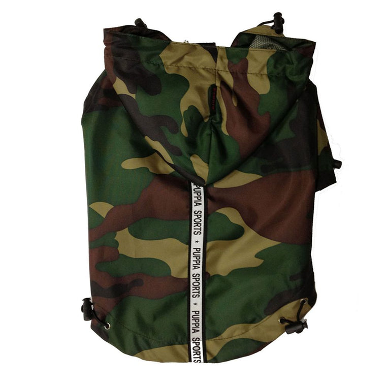 Camo Base Jumper Raincoat Puppia