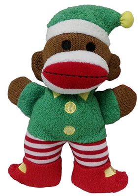 Twinkle Holiday Elf Sock Monkey Toy