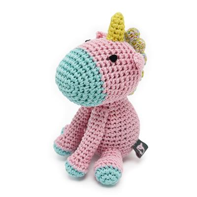 Unicorn Knit Squeaker Toy