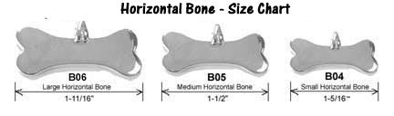Image result for silver bones dog tags horizontal bone