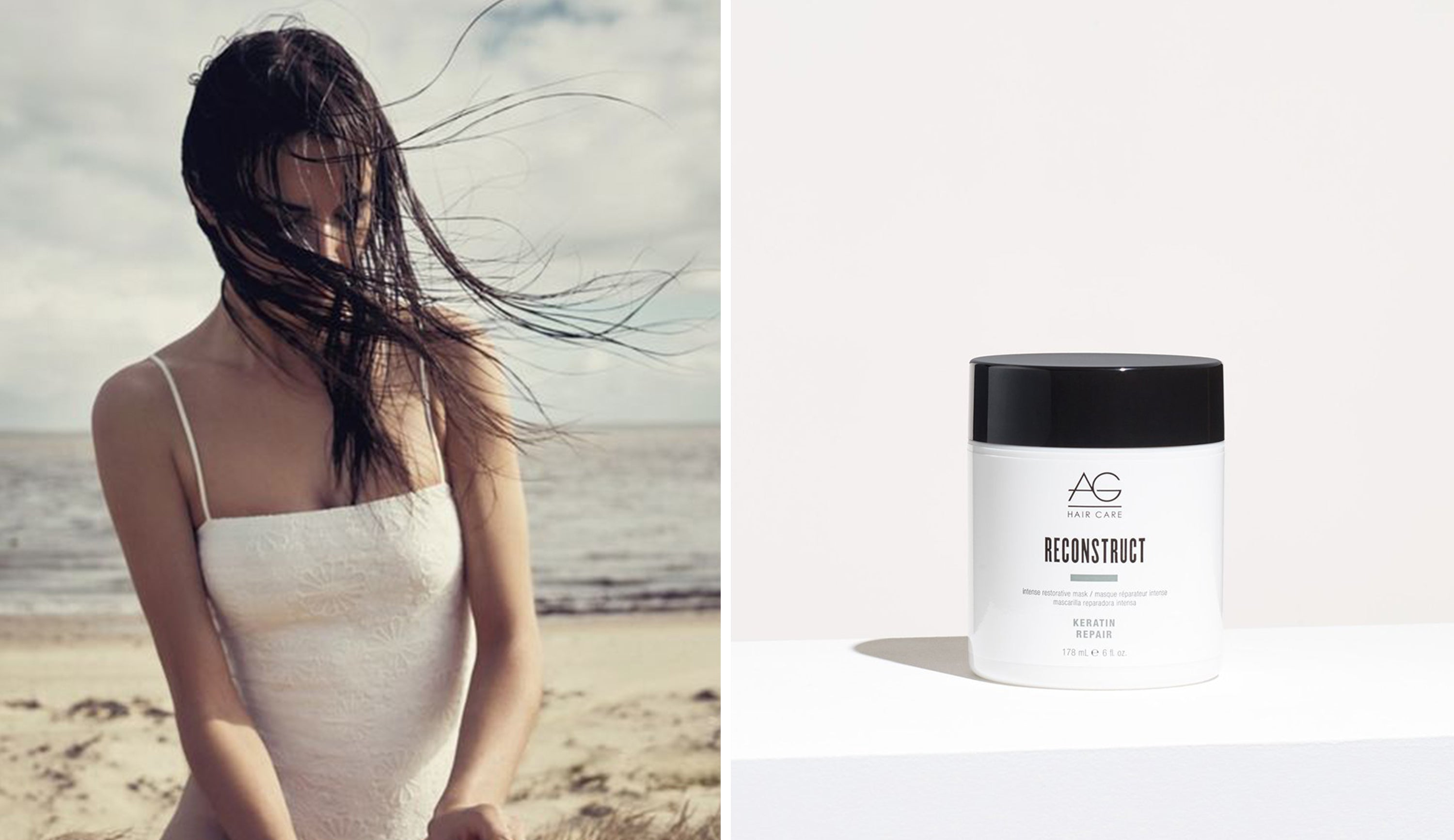 Keratin hair mask for damaged hair AG Reconstruct