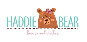 Haddie Bear Bows and Clothes