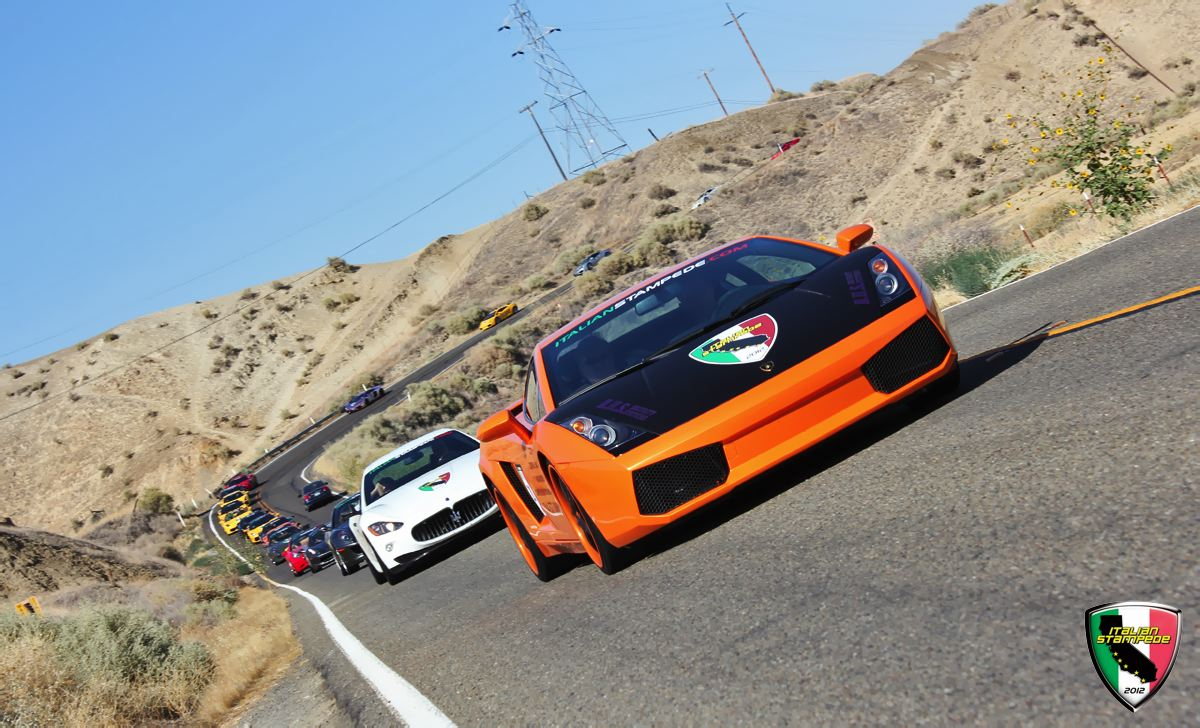Italian Stampede Exotic Car Rally to Monterey