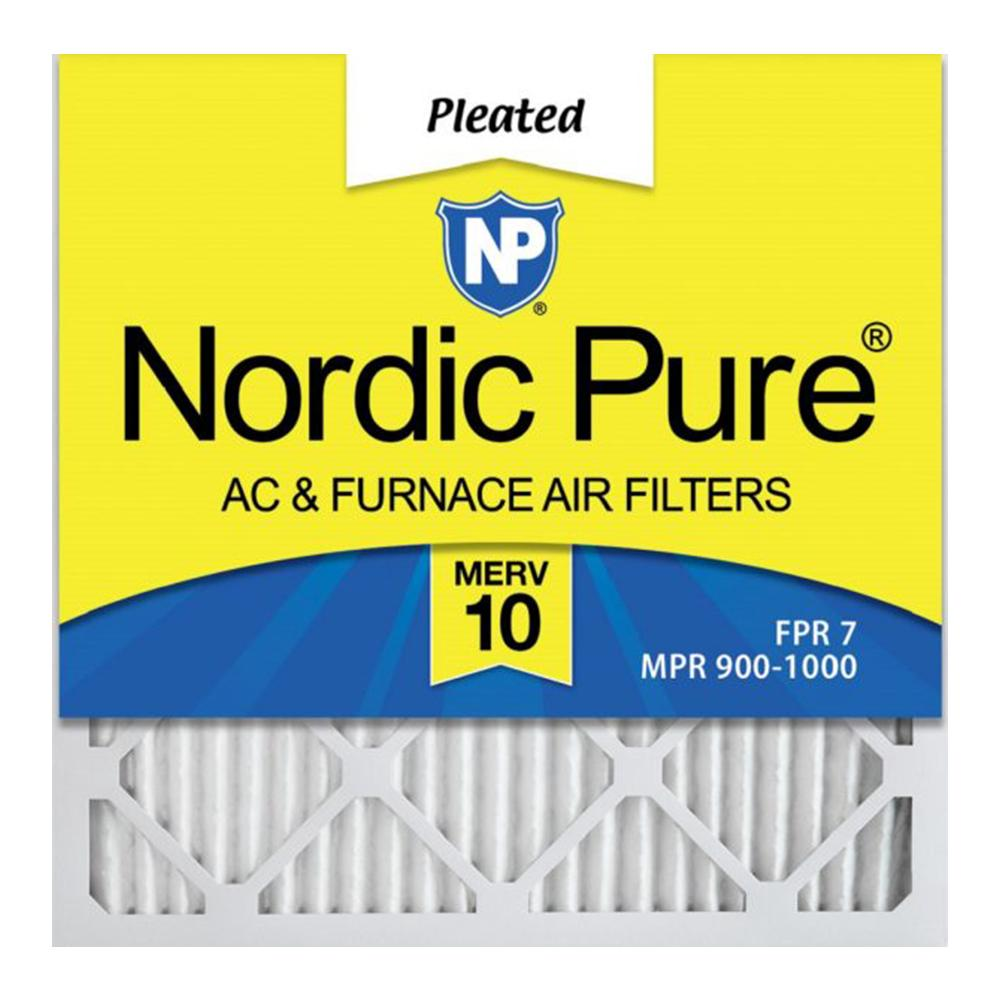 2 Pack - Furnace Filter - Merv 10 - Pleated Air Filter