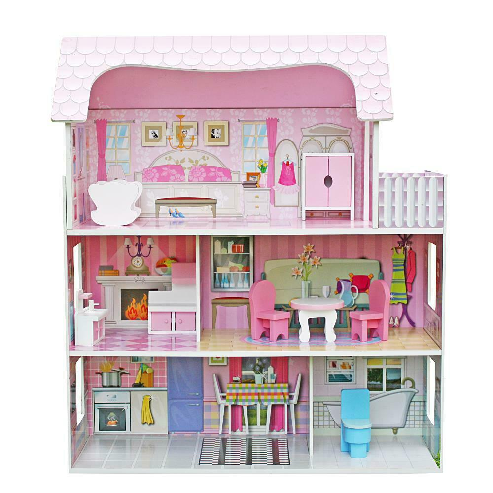 wooden doll house, best doll house