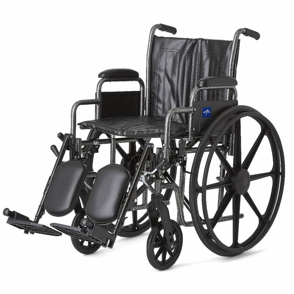wheelchair with leg rests