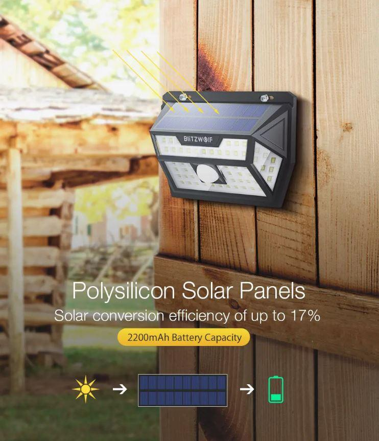 Outdoor Security Motion Sensor Light - Solar Powered