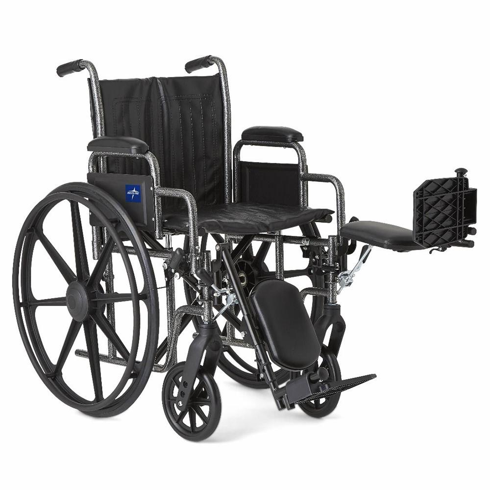 wheelchair with elevated leg rests