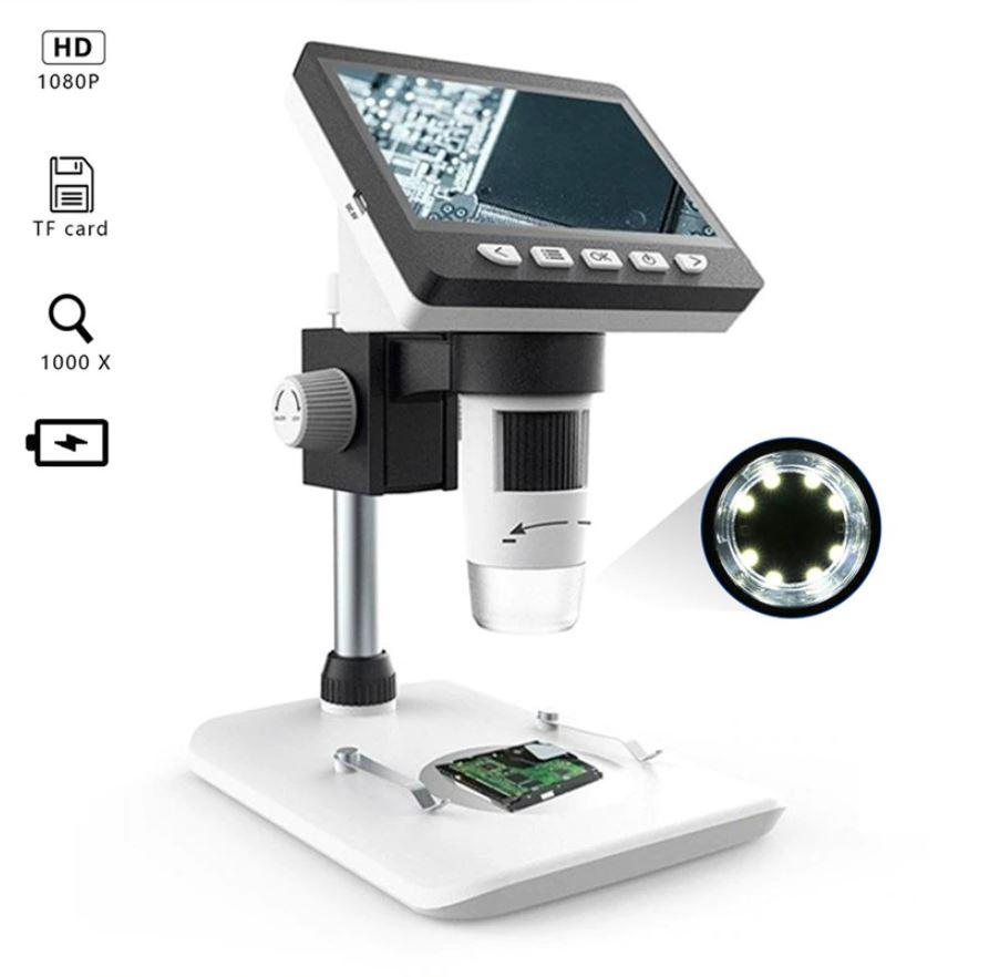 Digital Microscope - 500x - HD LCD Screen Microscope Camera