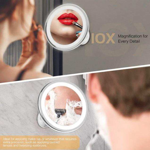 Makeup Mirror with Lights - Vanity Hollywood Light Up Mirror - 10X Magnifying LED Mirror