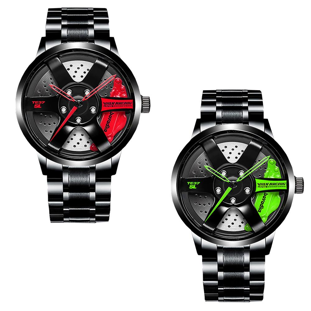 2 x Men's Designer Rim Style Watch