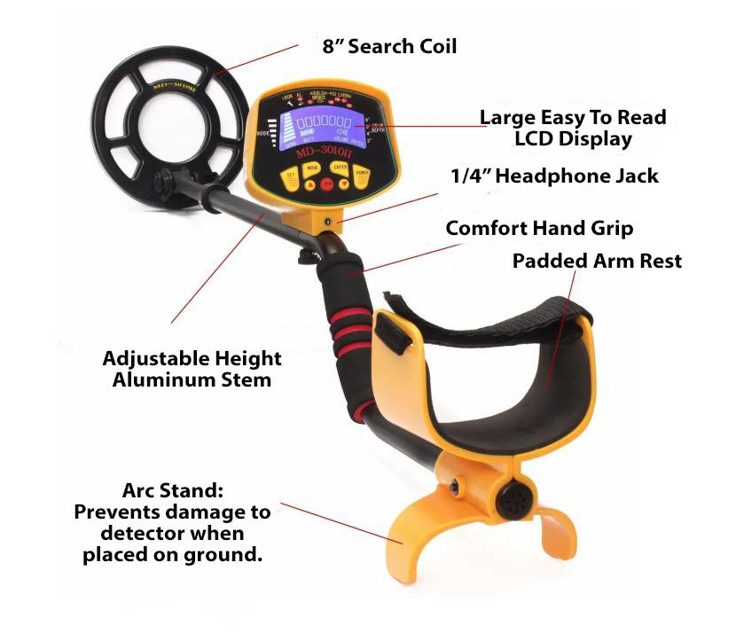 Metal Detector - LCD Screen - Waterproof Coil