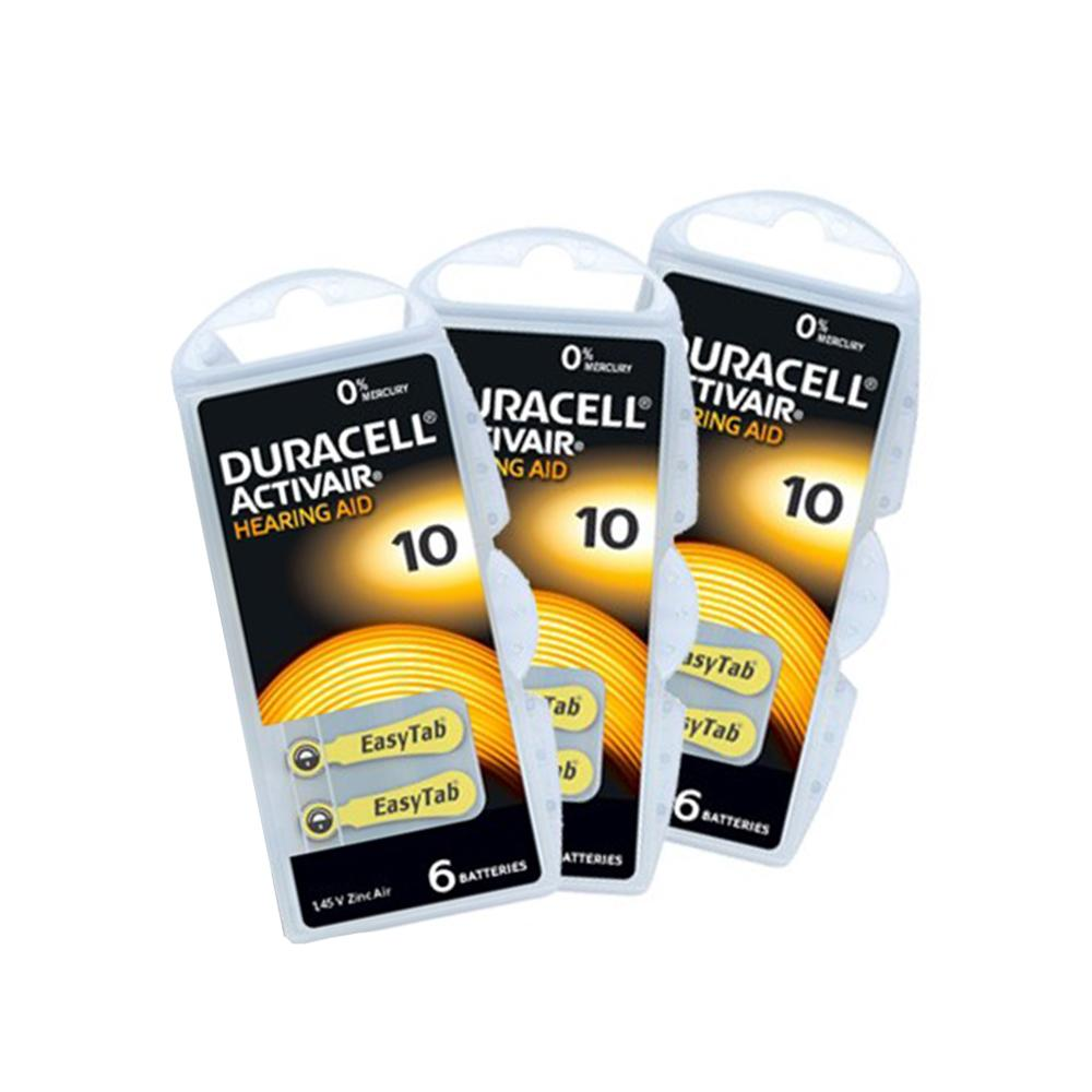 Duracell A10 Hearing Aid Batteries - Long Lasting - 30 Pack