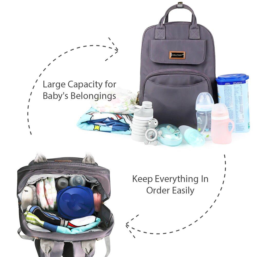 Diaper Bag Backpack For Baby - Best Diaper Bag For Baby Girls & Boys - Designer Diaper Tote Bag