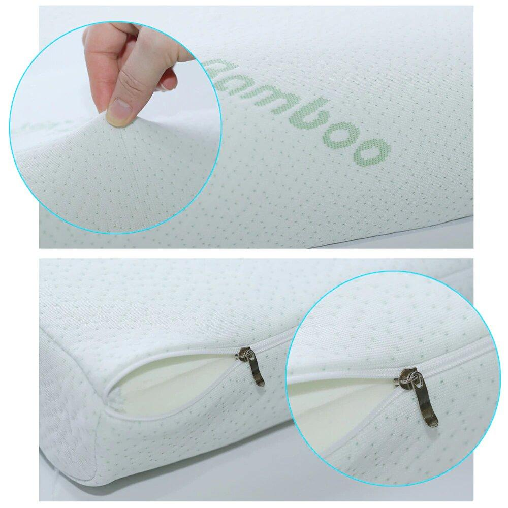 Bamboo Memory Foam Pillow  - Best Memory Foam Pillow - Neck Pillow