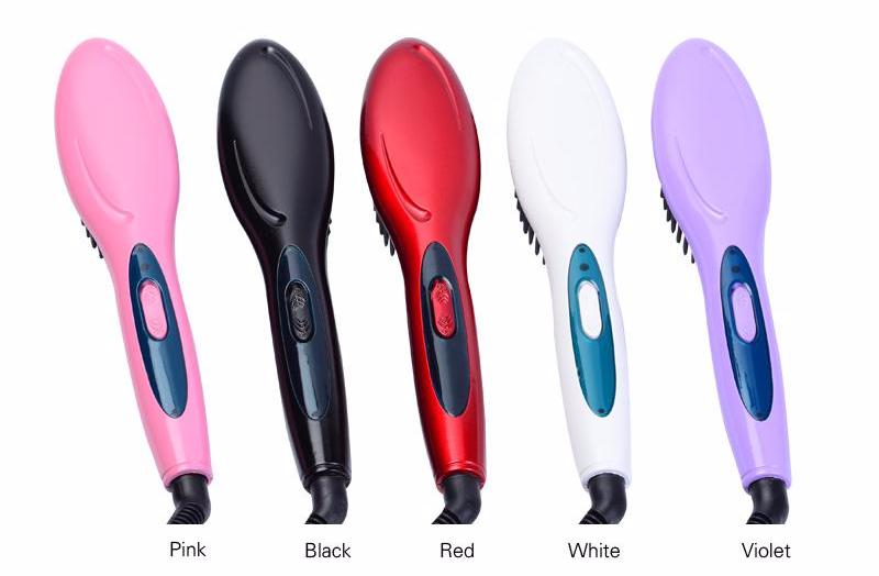 """Straight Brush"" Electric Hair Straightening Brush"