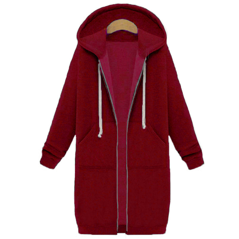 """Long Hood"" Over Sized Long Hoodie"