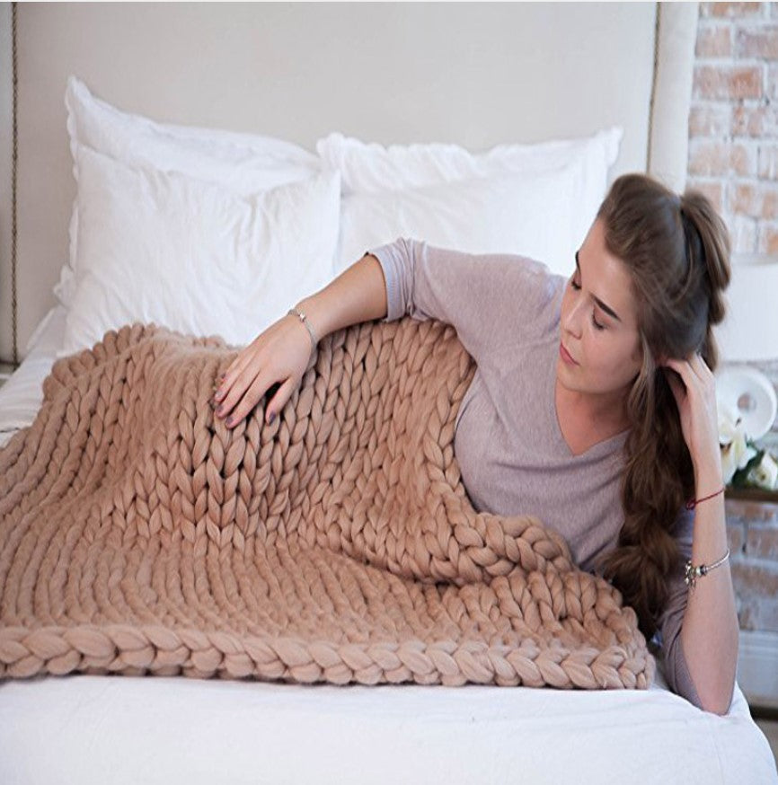 """Chunky Knit Blanket"" Ultra Soft Handmade Blanket"