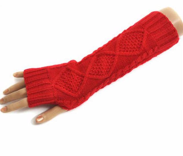 Warm Knitted Wool Arm Warmers