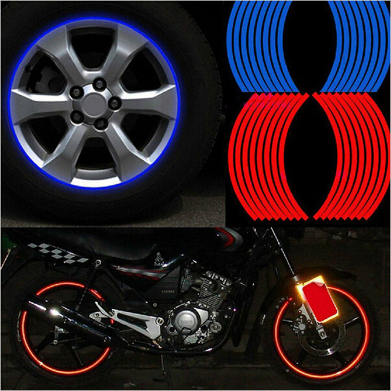 """Reflect Rim"" 16 Piece Reflective Rim Tape"