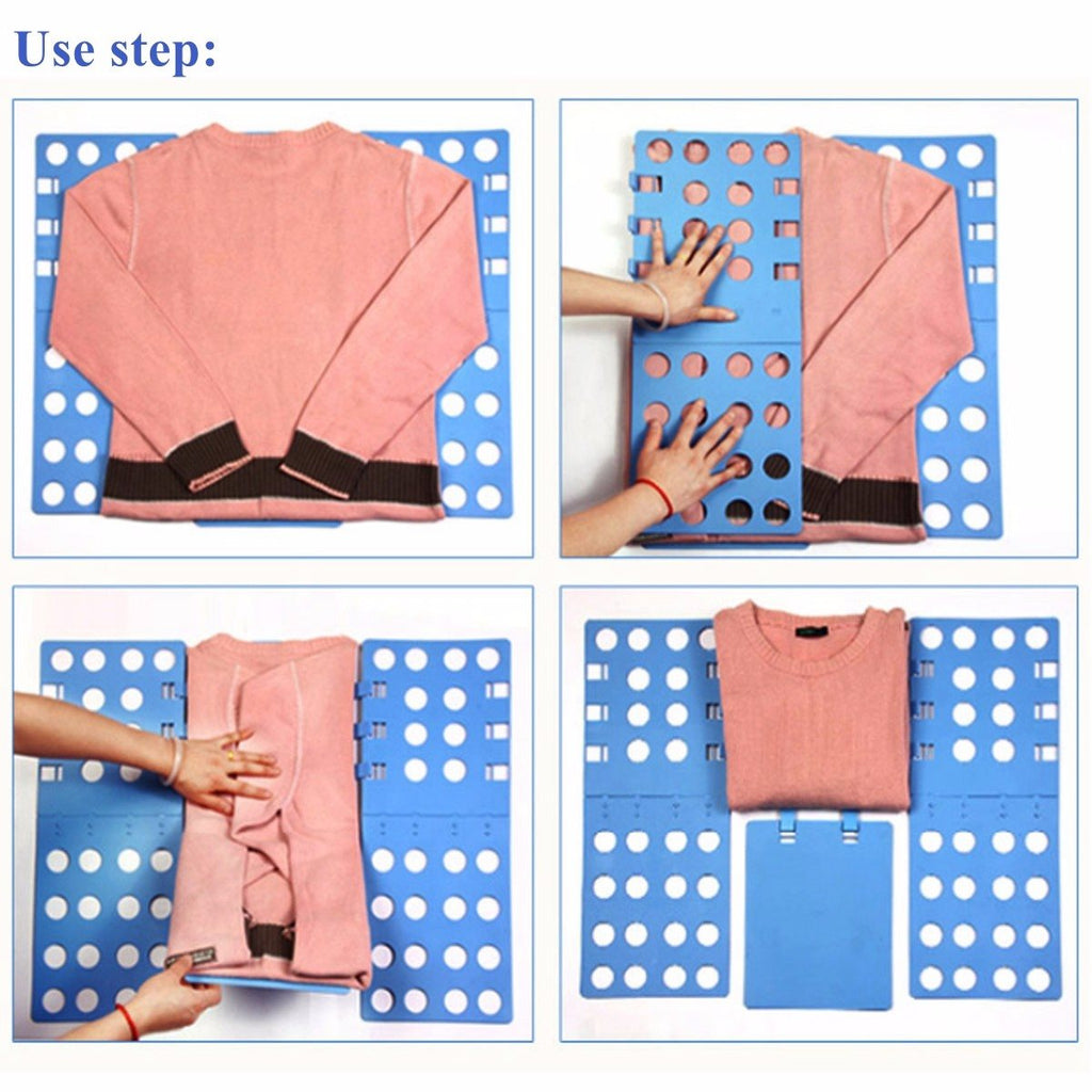"""Easy Fold"" Quick Clothes Folding Device"