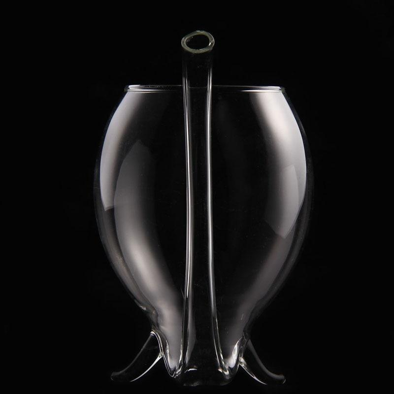 Handblown Straw Wine Glass