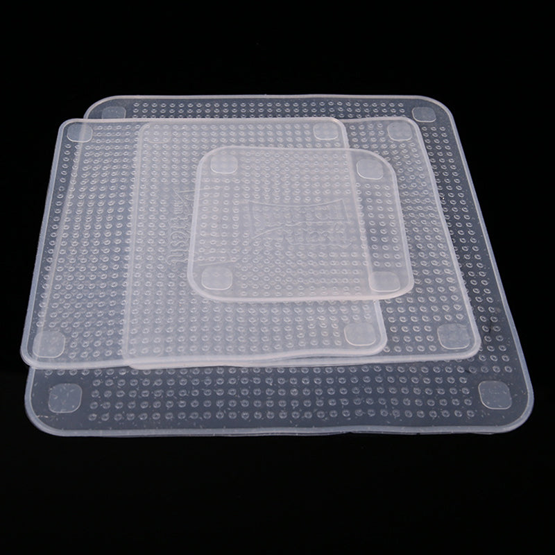 """Stretch & Press"" Reusable Food Sealer - 4pcs/set"
