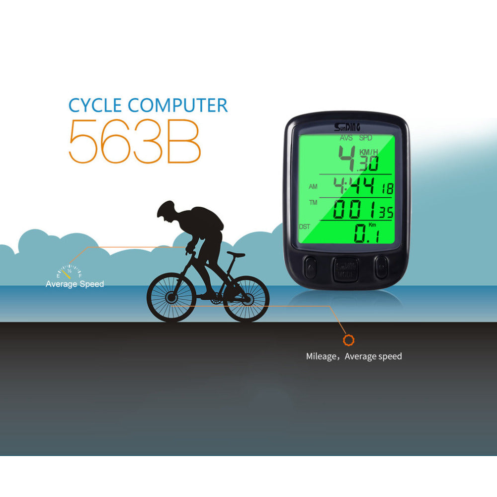 """Spin Speed"" Waterproof LCD Bike Speedometer / Odometer"