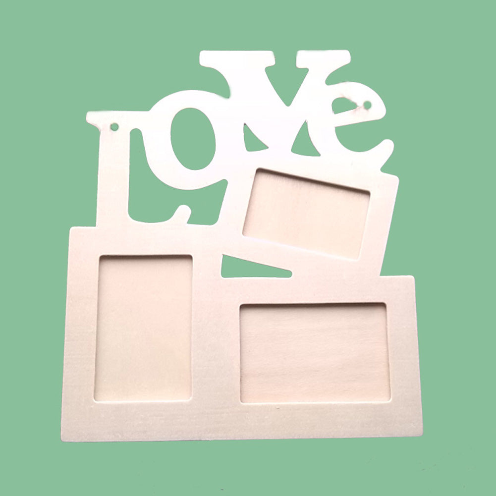 Triple Love Wooden Frame