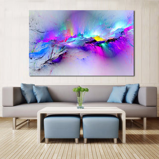 """Neon Titan"" Abstract Canvas Print"