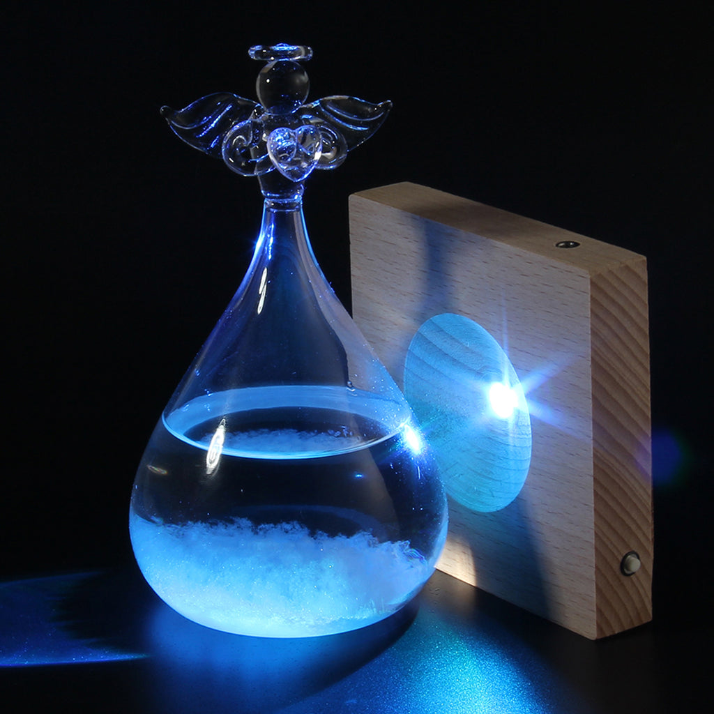 """Weather Angel"" Crystal Angel Storm Glass"