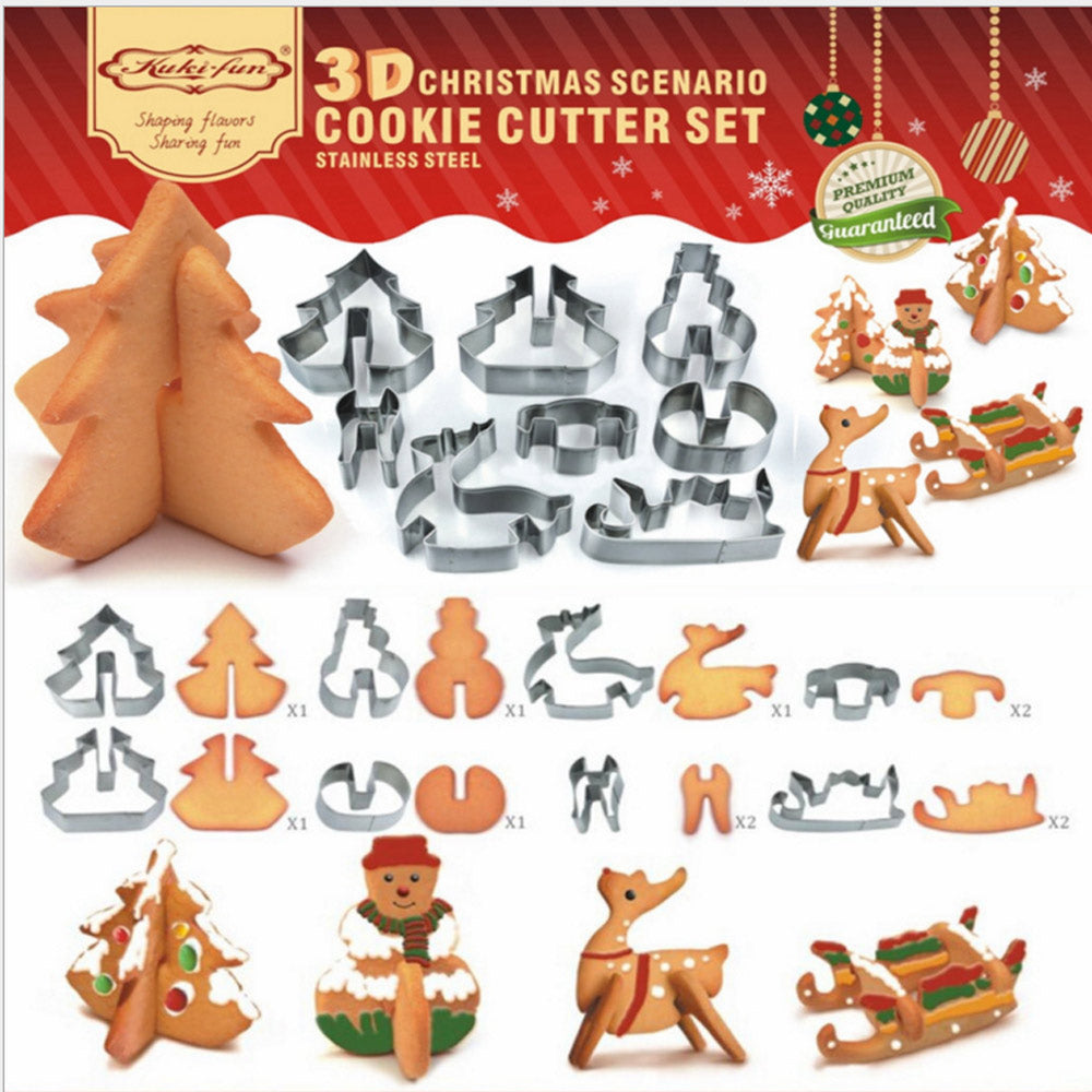 3D Winter Cookie Cutters