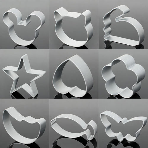 Assorted Aluminum Multi Shape Cookie Cutters (10pc) - The Baking Buddies