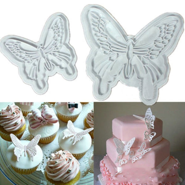 Butterfly Cookie Plunger Cutters Mold Cake  Decorating Fondant Tools (2pcs/Set) - The Baking Buddies
