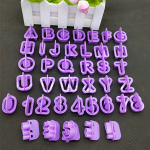 Alphabet Letter Number Fondant Cutter Decorative Tools (40pcs Set) - The Baking Buddies