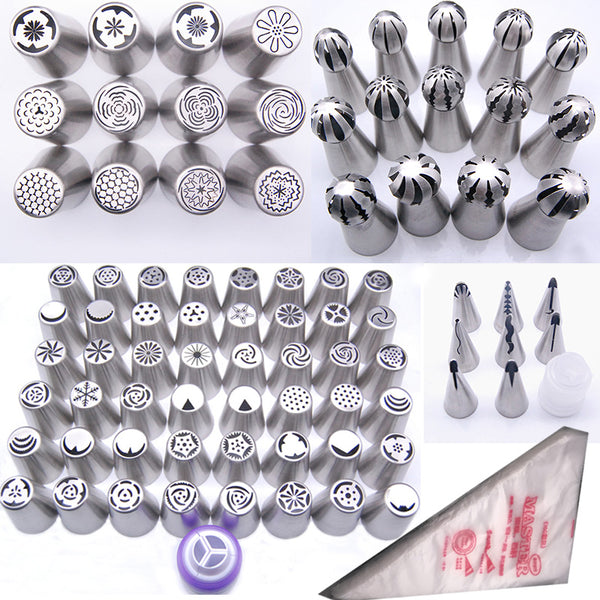 Ultimate Stainless Steel Cake Decorator Icing Tool Set (184pc Set)