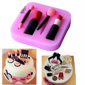 3D Make Up Set Shape Silicone Mold - The Baking Buddies