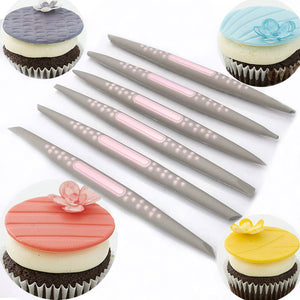 Precise Soft Tip Shaping Embossing Tools for Detailed Decorating