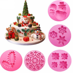 Christmas Themed Silicone Cake Cake Decorating Mold Tools