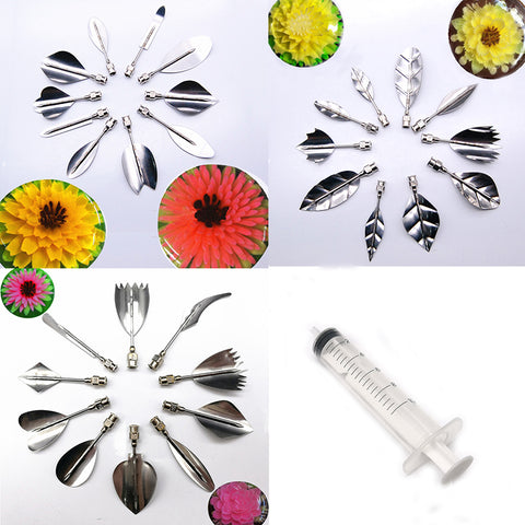 3D Flower Leaves Gelatin Jelly Art Tools (30pc/set) - The Baking Buddies
