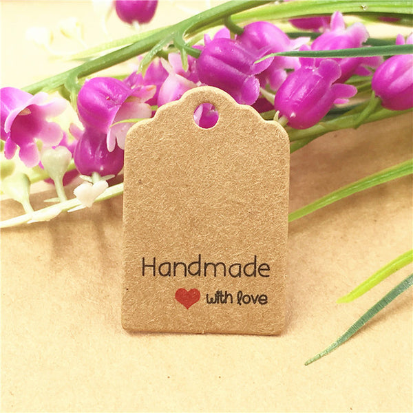 Craft Paper Lovely Handmade Price Tag Labels (200pc/set)